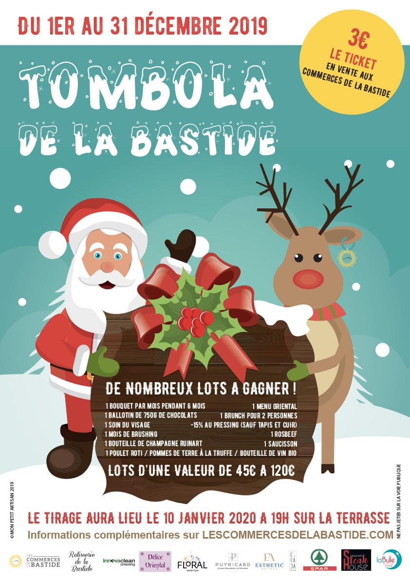 LES COMMERCES DE LA BASTIDE-Tombola-1912-PRINT